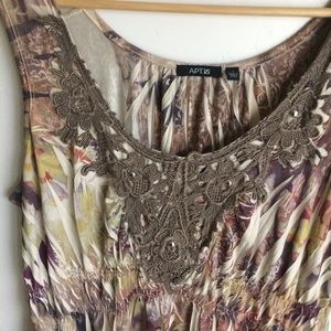 Apt. 9 Dresses - Apt 9 Brown Multicolor Sleeveless Dress Size L
